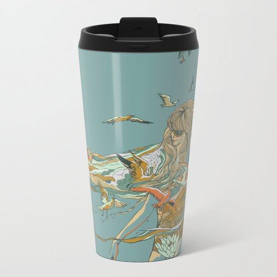 MELT INTO THE OCEAN Metal Travel Mug
