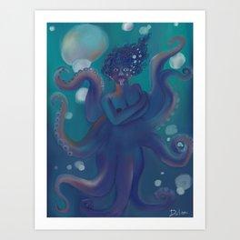 Blue Wonders Art Print