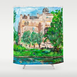 Education and Freedom, Riga, Latvia Shower Curtain