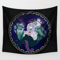 ursula Wall Tapestries featuring Ursula by Mazuki Arts