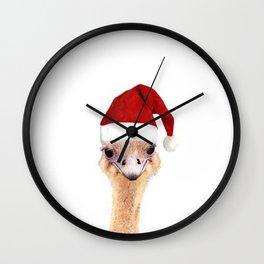 Ostrich Christmas Wall Clock