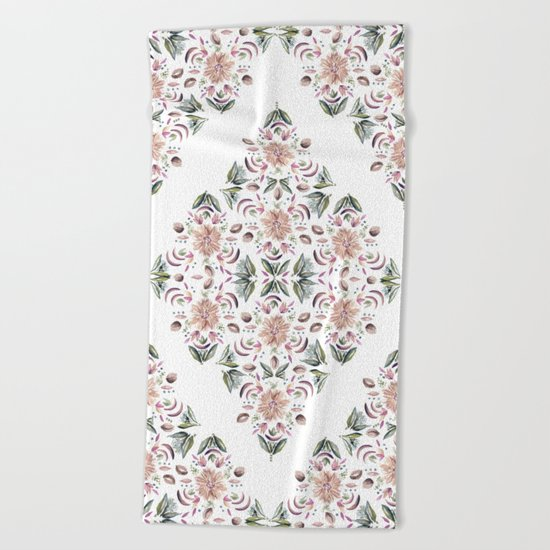 Tribe Floral Vibes Beach Towel