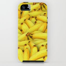 Yellow Bananas pattern iPhone Case