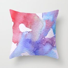Symphony in blue minor II Throw Pillow