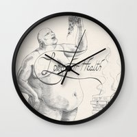health Wall Clocks featuring Long for health by Ans04