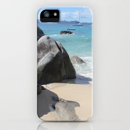 Scenic Beach at The Baths on Virgin Gorda, BVI iPhone Case