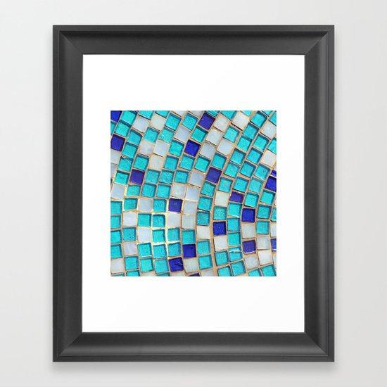 Blue Tiles - an abstract photograph. Framed Art Print