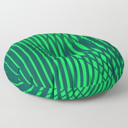 Jungle geometric lineart green pattern Floor Pillow