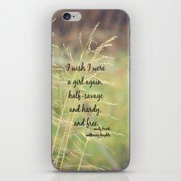 Emily Bronte Free iPhone Skin