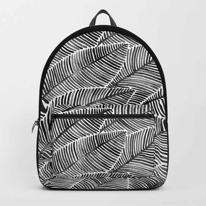 Tropical Palm Leaves – Black Palette Backpack