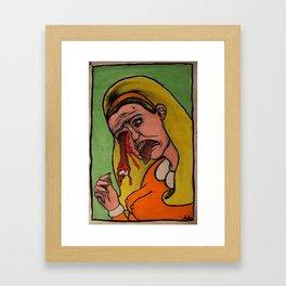 Then her eyeball fell out. Framed Art Print