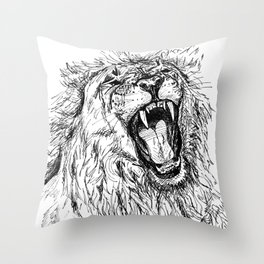 Back Off, Please Throw Pillow