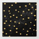 Gold Dots on Black Space Pattern by naturemagick