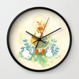 Special Easter: Chocolate and Bunnies Wall Clock