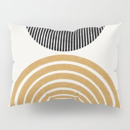 Rainbow and Moon Pillow Sham