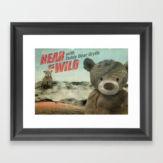 Teddy Bear Grylls Framed Art Print