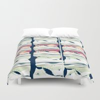 converse Duvet Covers featuring Wall of Converse by Renee Ansell