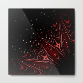 Red Velvet Christmas Metal Print