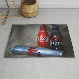 Coke In tin Bottles Rug