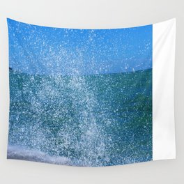 Lake Michigan Natural Fountains #2 (Chicago Waves Collection) Wall Tapestry