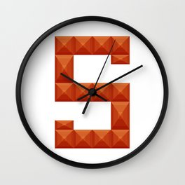 """Letter """"S"""" print in beautiful design Fashion Modern Style Wall Clock"""