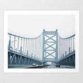 The Ben Franklin Bridge Art Print