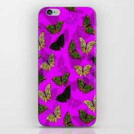 PurpleLightButterfly iPhone Skin