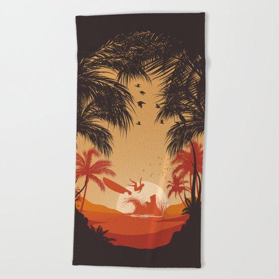 Summertime Madness Beach Towel