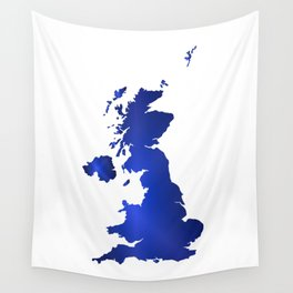 United Kingdom Map silhouette Wall Tapestry