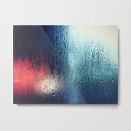 Rain Blur Metal Print