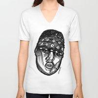 biggie smalls V-neck T-shirts featuring Biggie Smalls Life and Death by sketchnkustom