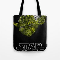 yoda Tote Bags featuring Yoda by Stormega