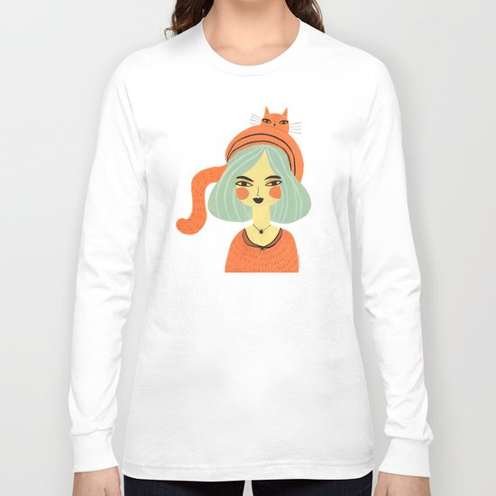 CAT BONNET Long Sleeve T-shirt