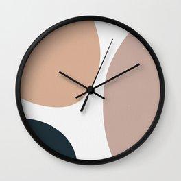 Abstract Shapes boho Minimal Wall Clock