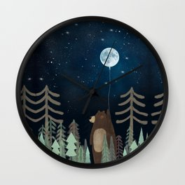 the moon balloon Wall Clock