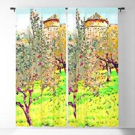 Laureana Cilento: silos in the olive grove Blackout Curtain