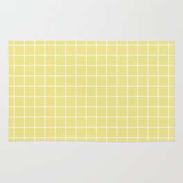 Khaki (X11) (Light khaki) - beije color - White Lines Grid Pattern Rug