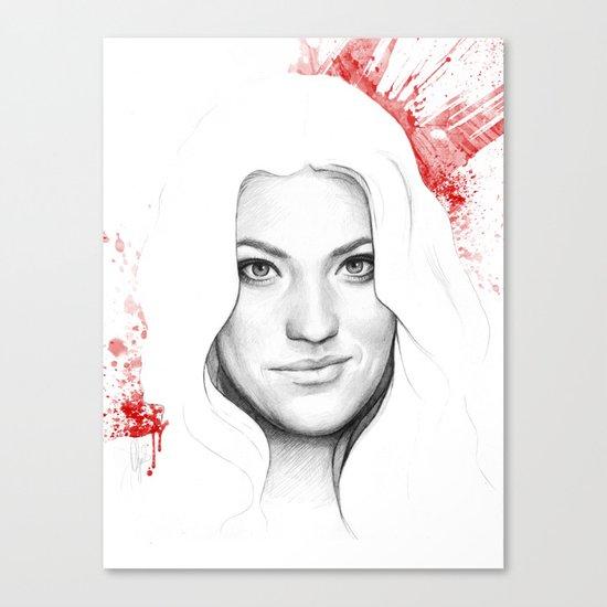 Debra and Blood Splatters Canvas Print