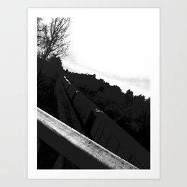 The Train//b&w Art Print