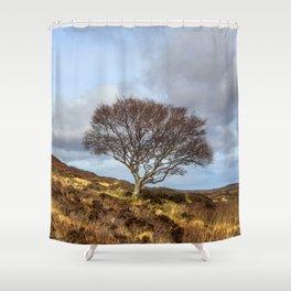 Hillside tree Shower Curtain