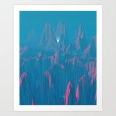 Neon Waterfalls Art Print