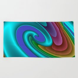whirls of color -01- Beach Towel