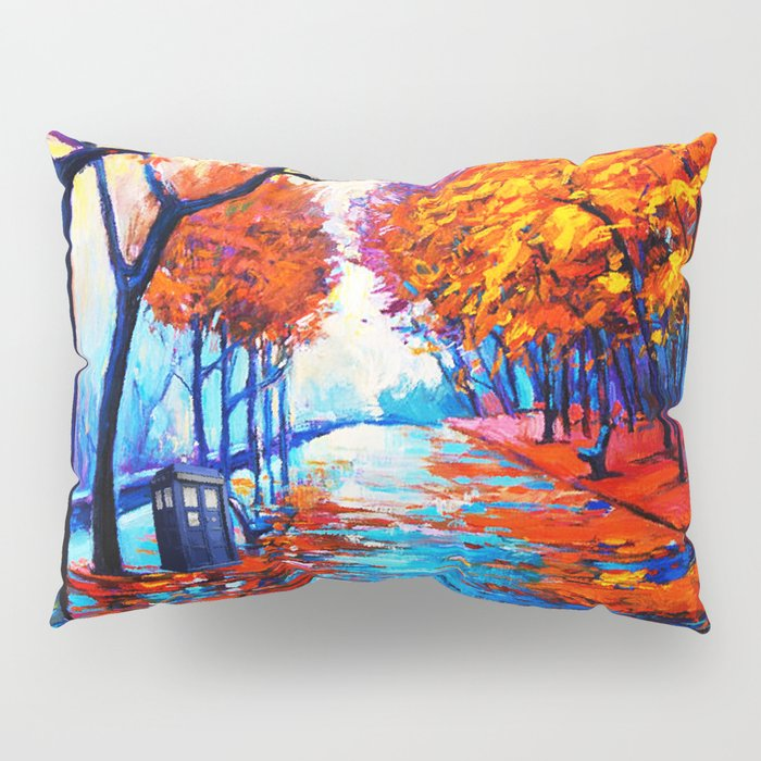 Tardis Art Tree Blossom Pillow Sham