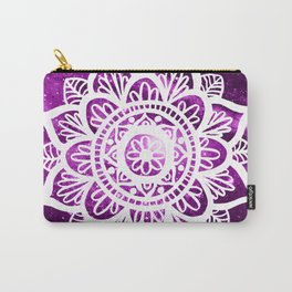Purple Galaxy Mandala Carry-All Pouch