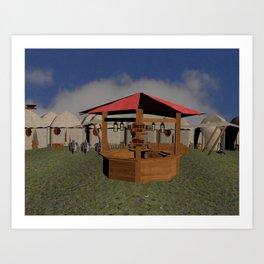 Medieval Market Tavern Art Print
