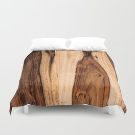 Sheesham Wood Grain Texture, Close Up Duvet Cover