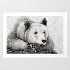 Brooding Bear Art Print