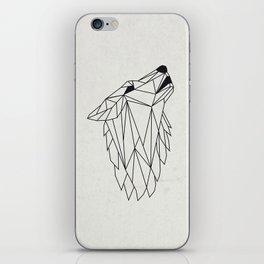 Geometric Howling Wild Wolf iPhone Skin