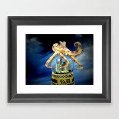 Octopus Attacks New York! Framed Art Print