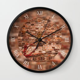 Red ivy hedge plant climber Wall Clock